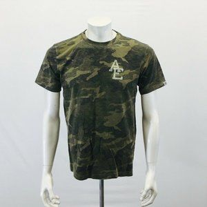 American Eagle Camouflage T Shirt Men's Small Gree